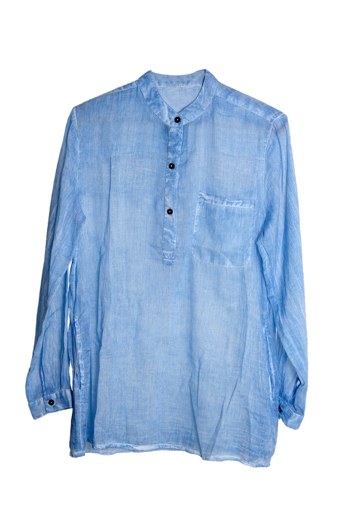 Soft Cotton Shirt - Light Blue - An Indian Summer