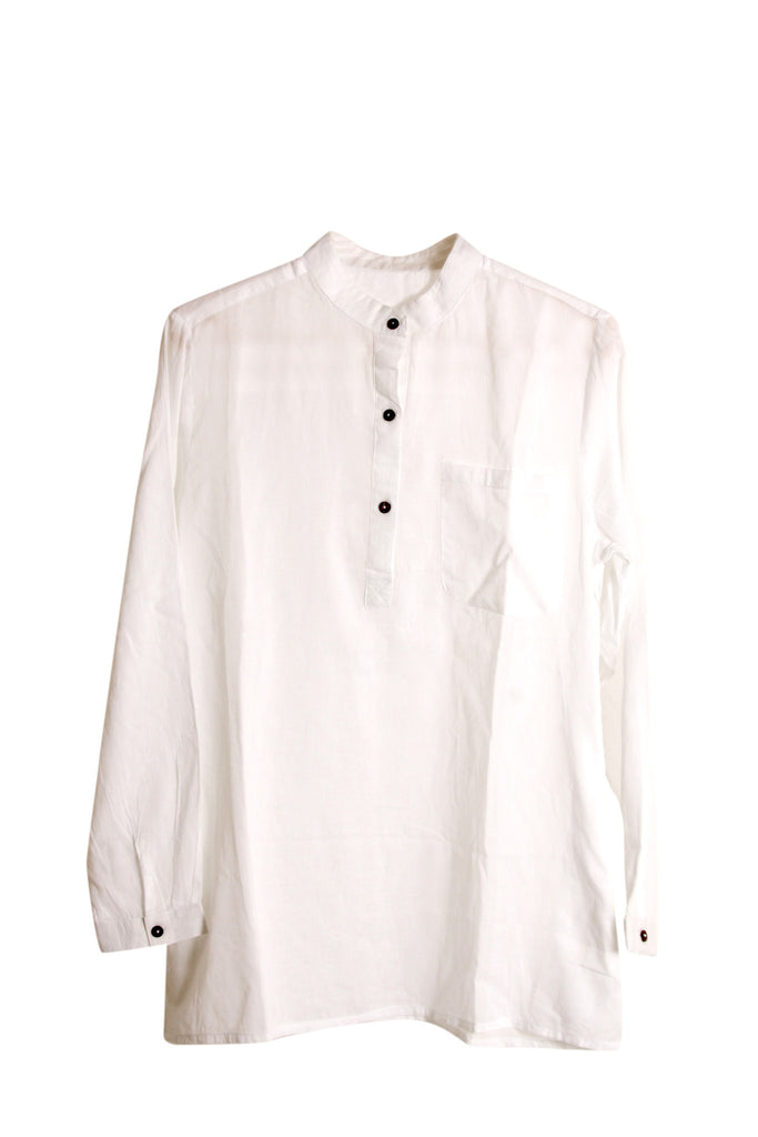 Soft Cotton Shirt - White - An Indian Summer