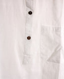 Soft Cotton Shirt - White - Cotton - An Indian Summer