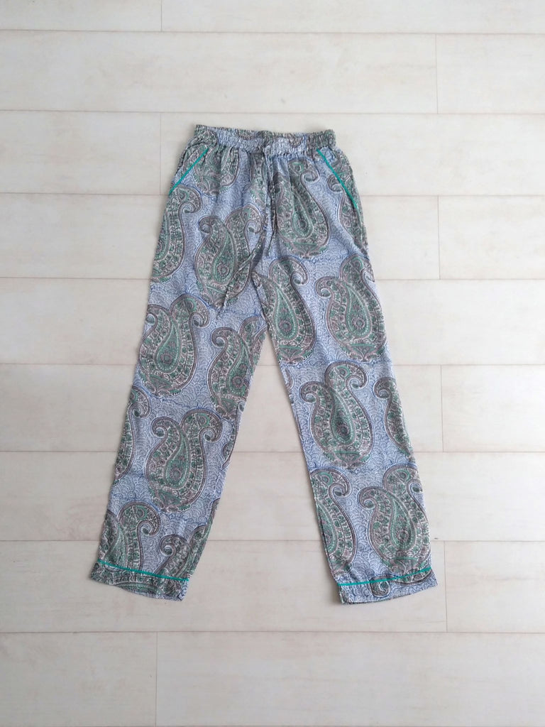 Kashmir Paisley Pyjama Bottoms | Hand Block Printed | Cotton | An Indian Summer