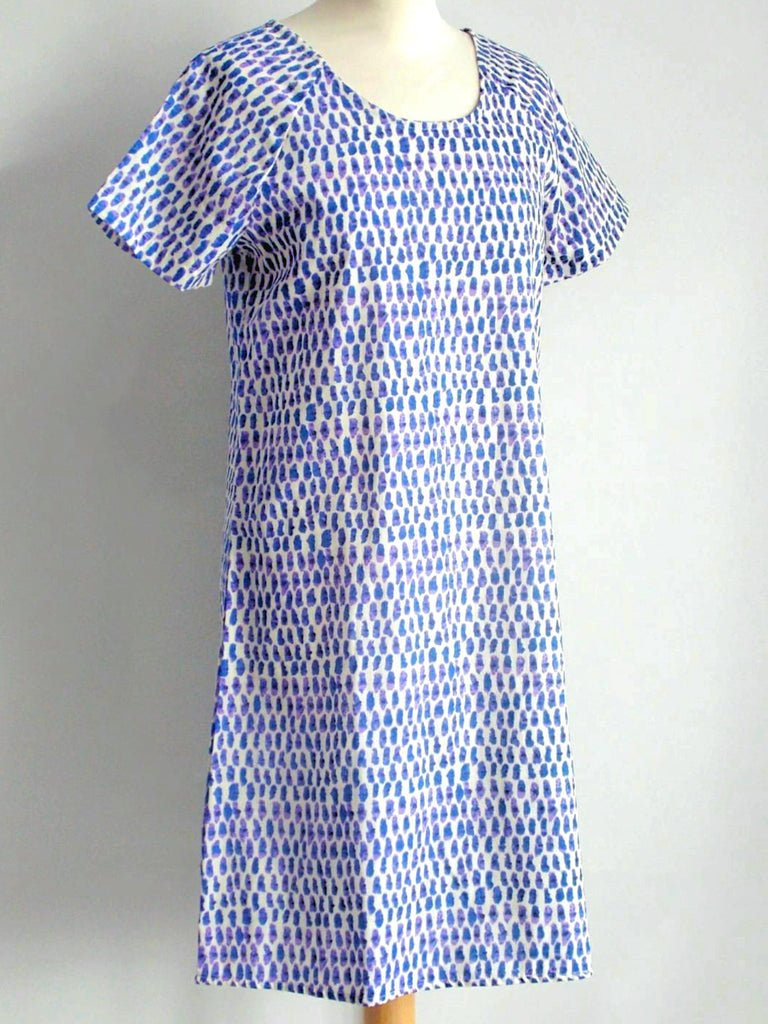 Laguna Blue Shift Dress - An Indian Summer
