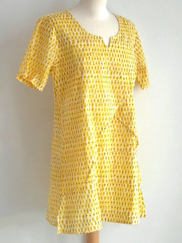Laguna Yellow Tunic Dress
