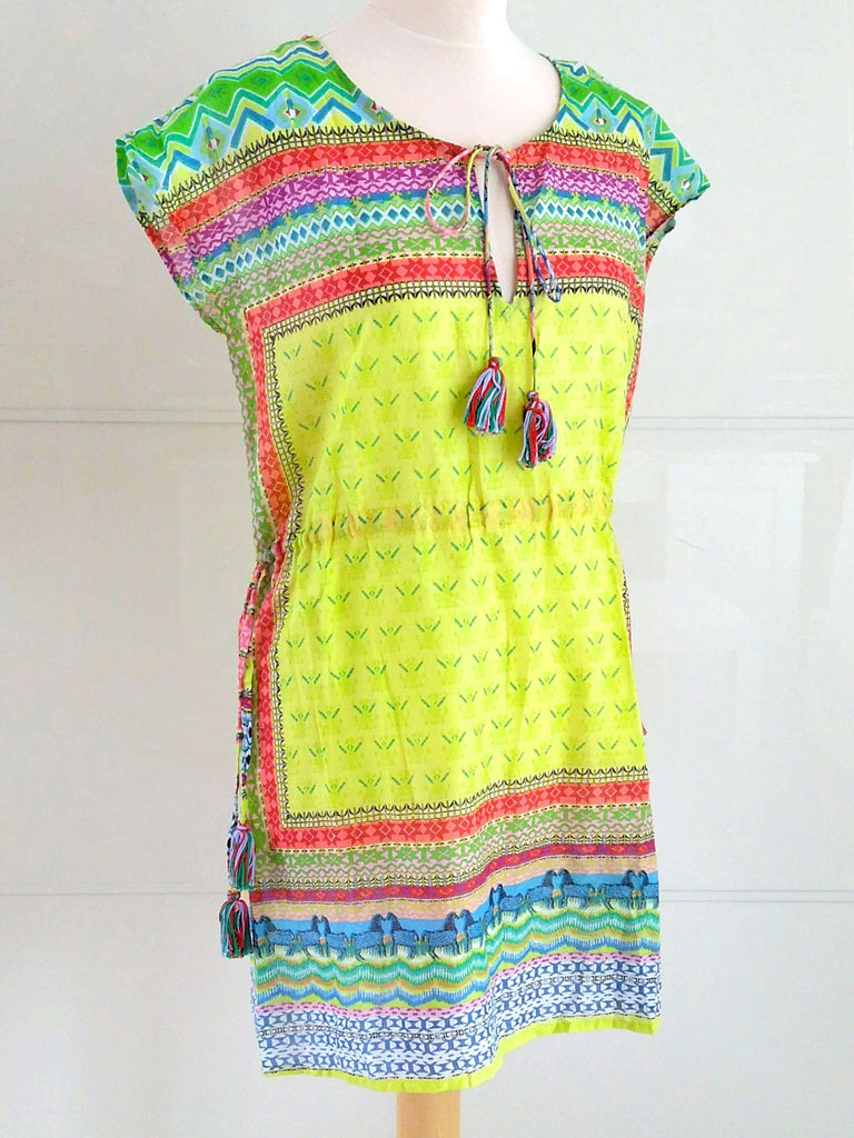 Helena Lime Sundress | Fine Cotton Dress | Indian Cotton | An Indian Summer