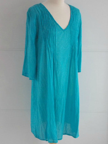 Penelope Dress Turquoise | Cotton | An Indian Summer