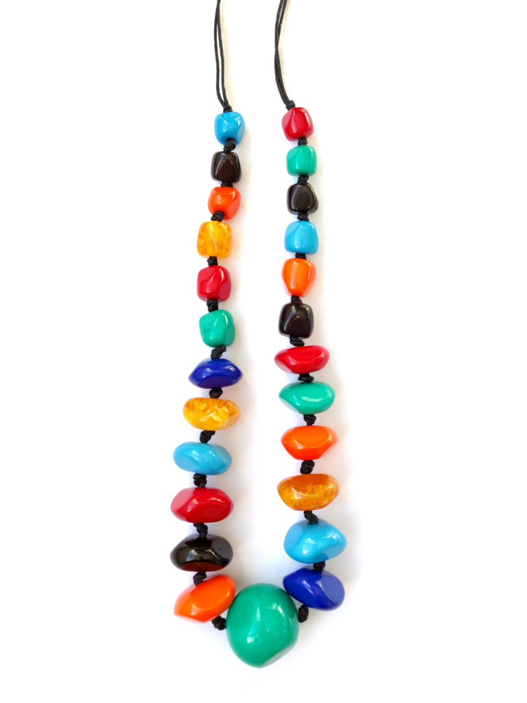 Mila Necklace Multicoloured | Chunky Resin Beads Necklace | An Indian Summer