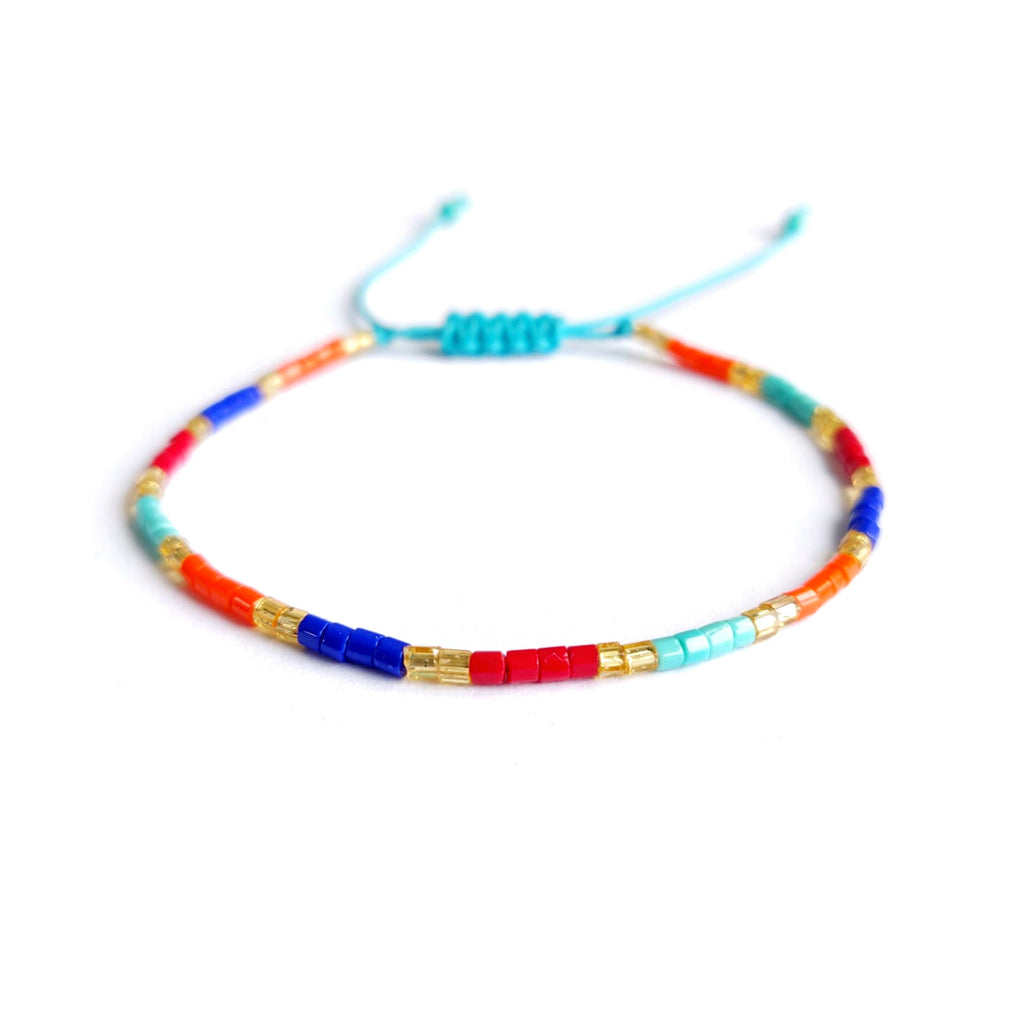 Boho Stacking Bracelet - Colour Blocks - An Indian Summer