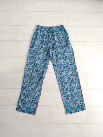 Mosaic Pyjama Bottoms - Blue