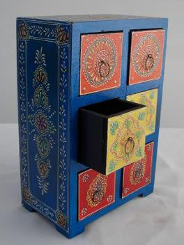 Painted Tall Chest of Drawers - An Indian Summer