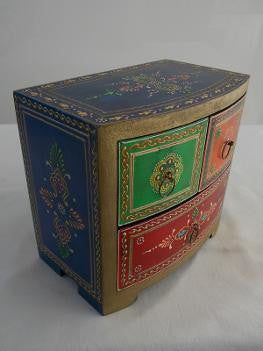 Painted Wide Chest of Drawers - An Indian Summer