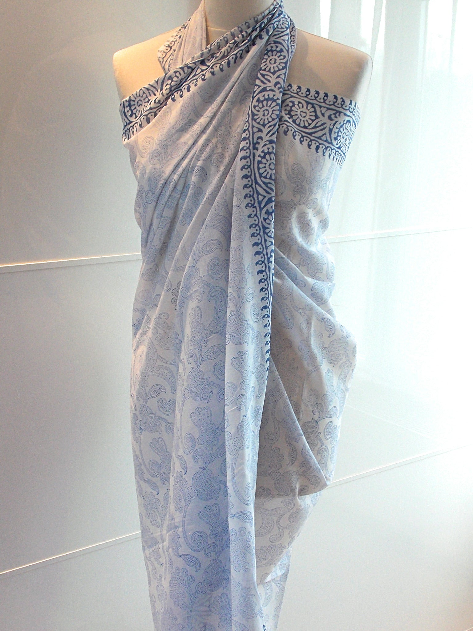 Paisley Sarong - Blue - An Indian Summer