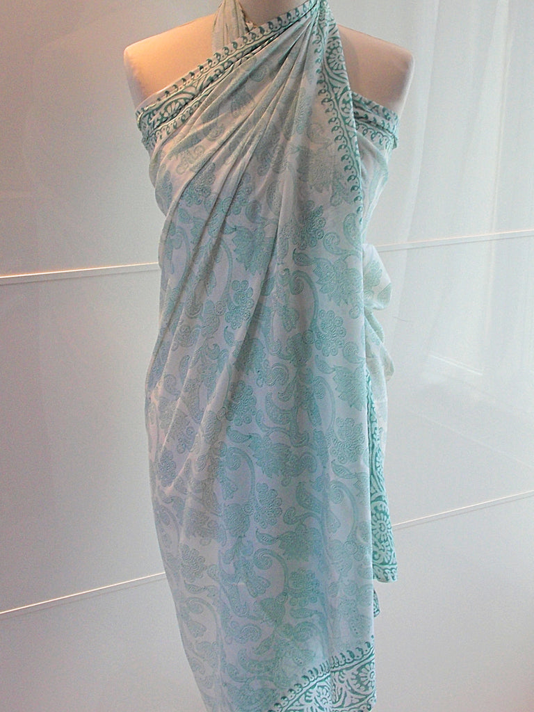 Paisley Sarong - Green - An Indian Summer
