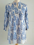 Paisley Top - Blue & Gold - An Indian Summer