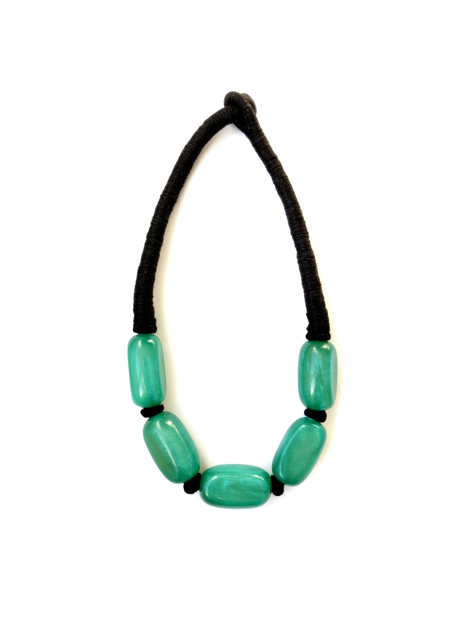 Paloma Necklace - Jade Green - An Indian Summer