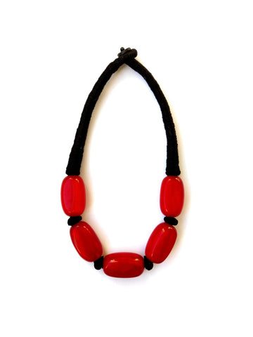 Paloma Necklace - Ruby Red