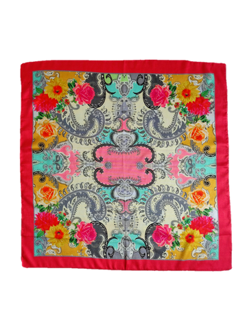 Siena Silk Square Scarf - An Indian Summer