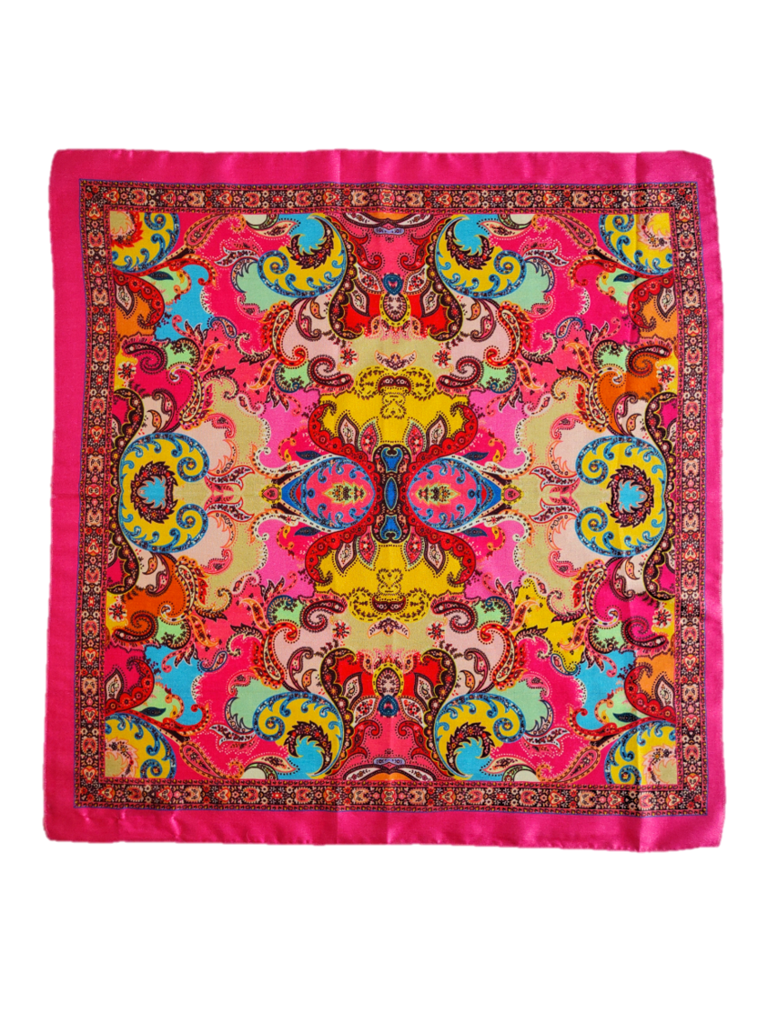 Bohemia Silk Square Scarf - An Indian Summer
