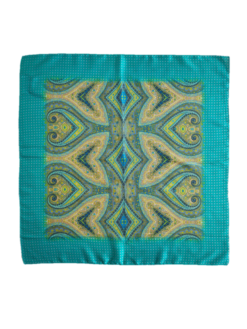 Riviera Silk Square Scarf - An Indian Summer