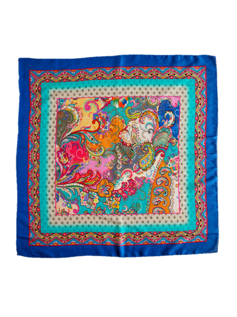Shangri La Silk Square Scarf - An Indian Summer