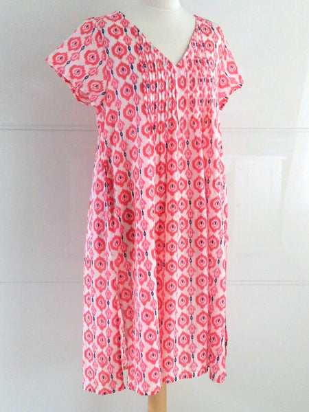 Chloe Summer Dress - Pink - An Indian Summer