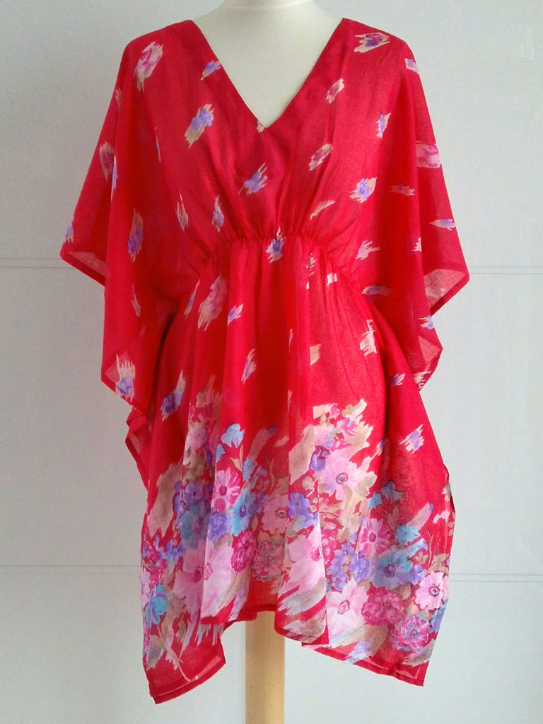 Poppy Kaftan Red | Cotton | An Indian Summer
