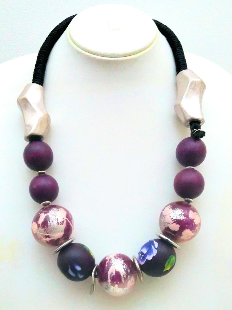 Purple Statement Necklace - An Indian Summer