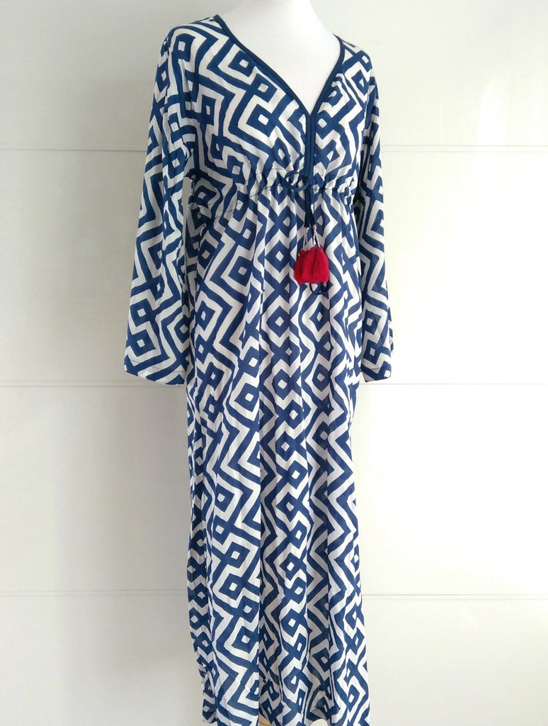 Santorini Maxi Dress - Navy - An Indian Summer