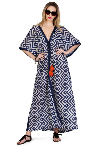 Santorini Maxi Kaftan - An Indian Summer
