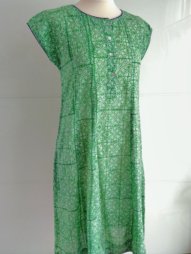 Trellis Dress - Green - An Indian Summer