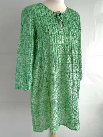 Trellis Tunic Dress - Green