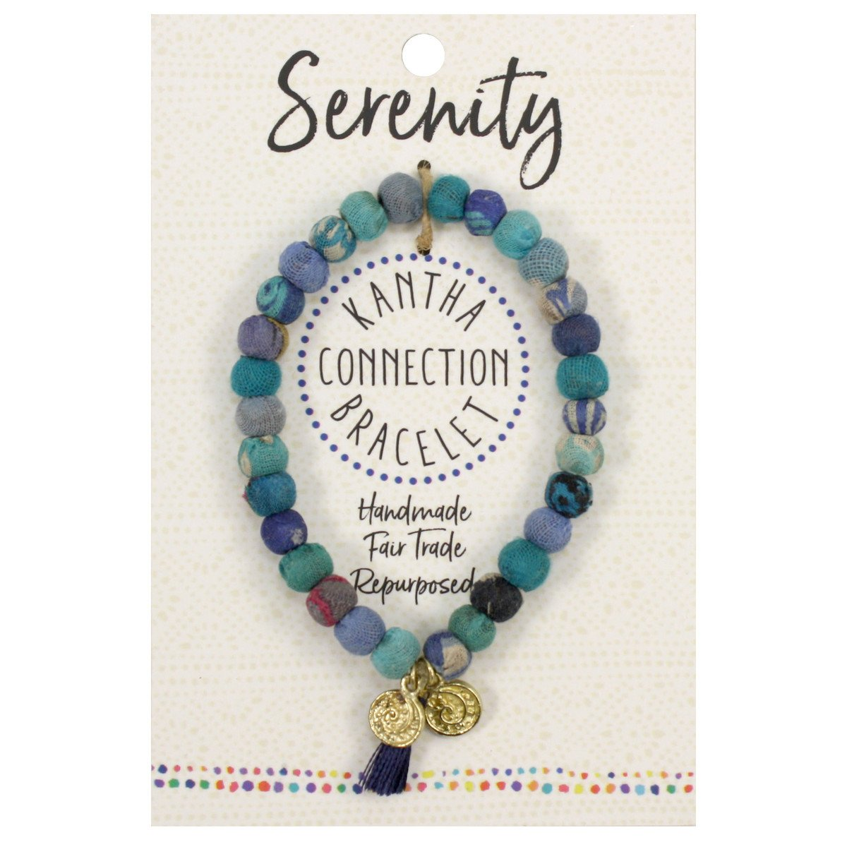 Kantha Connection Bracelet - Serenity - Blue - An Indian Summer