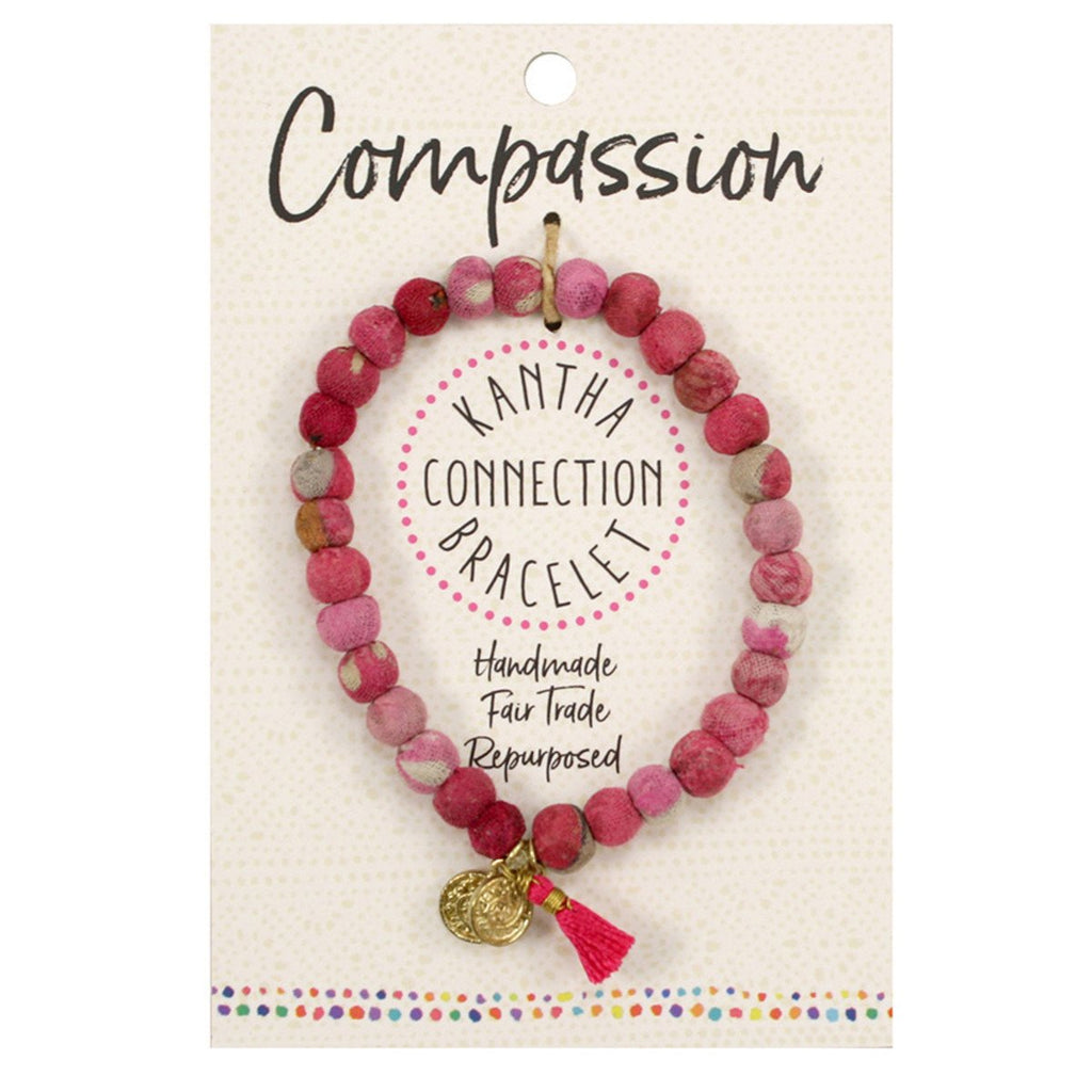 Kantha Connection Bracelet - Compassion - Pink - An Indian Summer