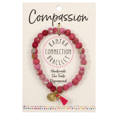 Kantha Connection Bracelet - Compassion - Pink