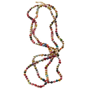 Kantha Bead Long Necklace - An Indian Summer
