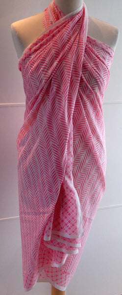 Lehriya Sarong - Pink - An Indian Summer