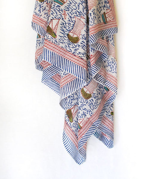 Yachts Sarong - Blue - An Indian Summer