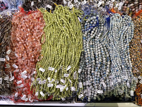 Just some of the lovely beads available at the Tucson Gem and Mineral Show