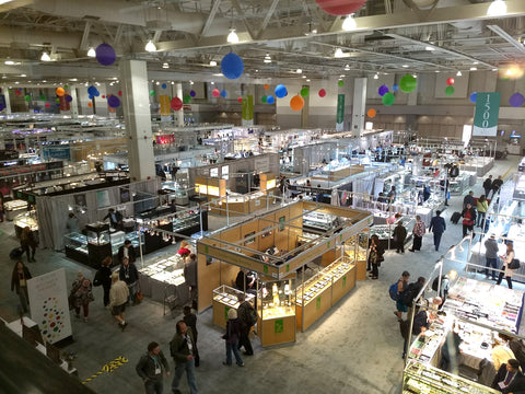 Showroom floor of the AGTA GemFair Show in Tucson