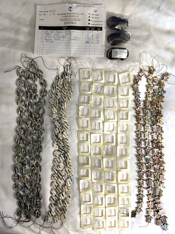 Mother-of-pearl beads bought in Tucson