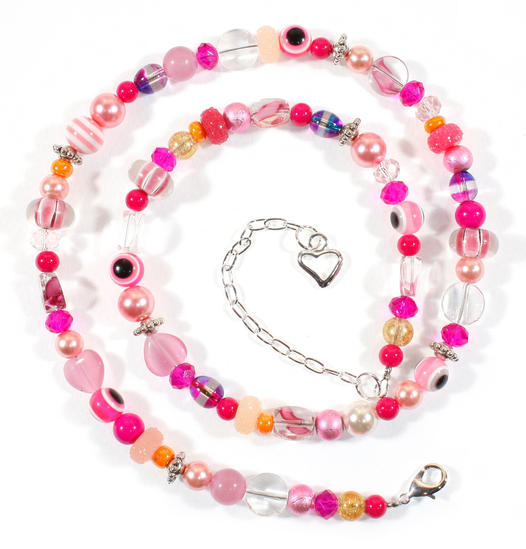 """All About Pink"" Fabulous Glass Bead Necklace, 25 Inches"