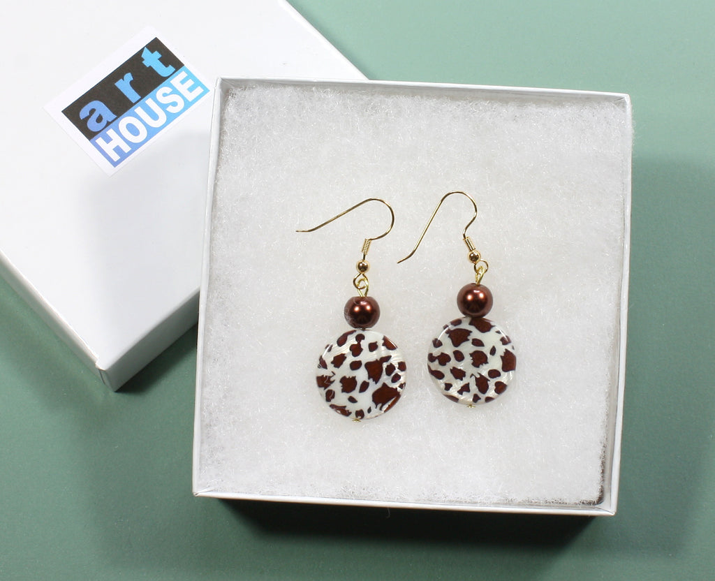 "Horse Animal Print Earrings ""Appaloosa"""