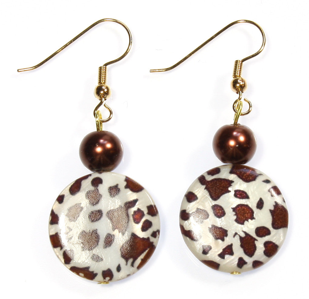 "Animal Print Earrings ""Appaloosa"" Style-ARThouse"
