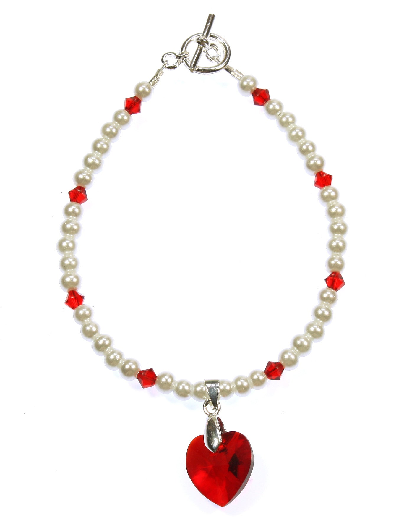 "Swarovski Red Heart Bracelet ""Be My Valentine"""