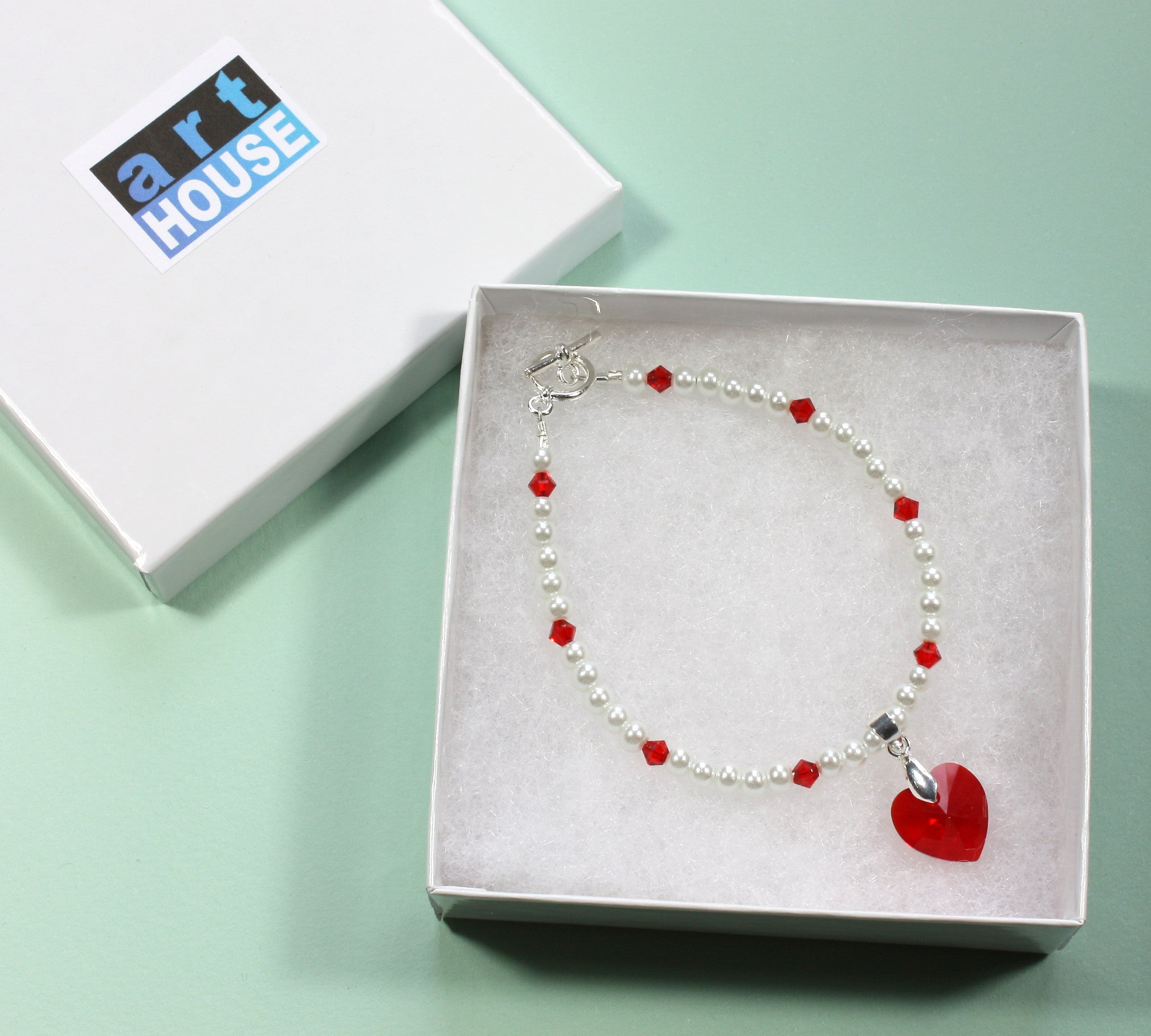 my swarovski bracelet inches be heart products box valentine brilliant in red
