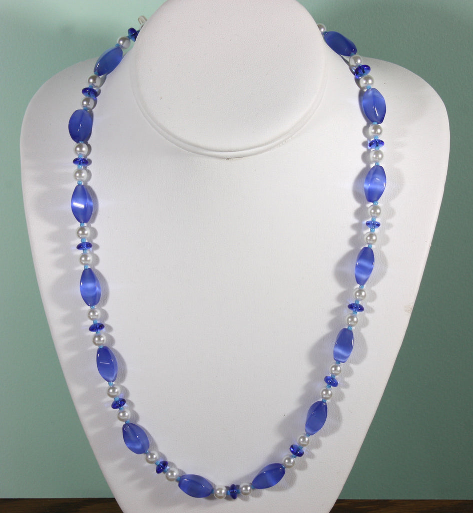 "Blue Cat's Eye Necklace ""Beautiful in Blue"" Style-ARThouse"