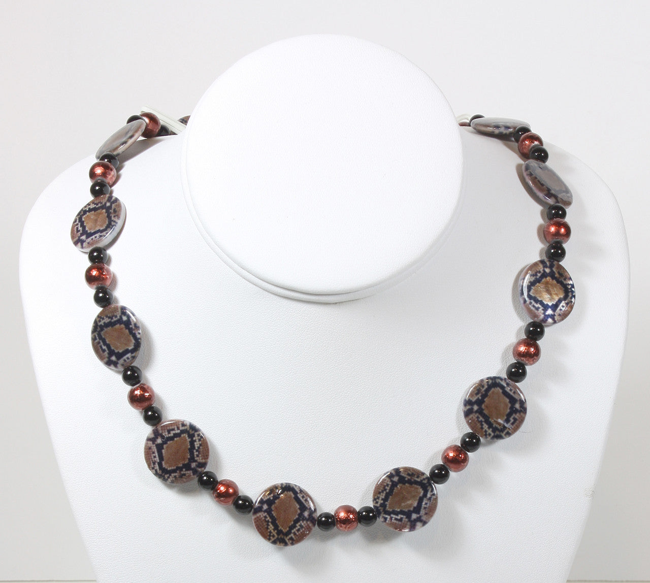 "Reptile Print Necklace ""Beware of the Snake"" Style-ARThouse"
