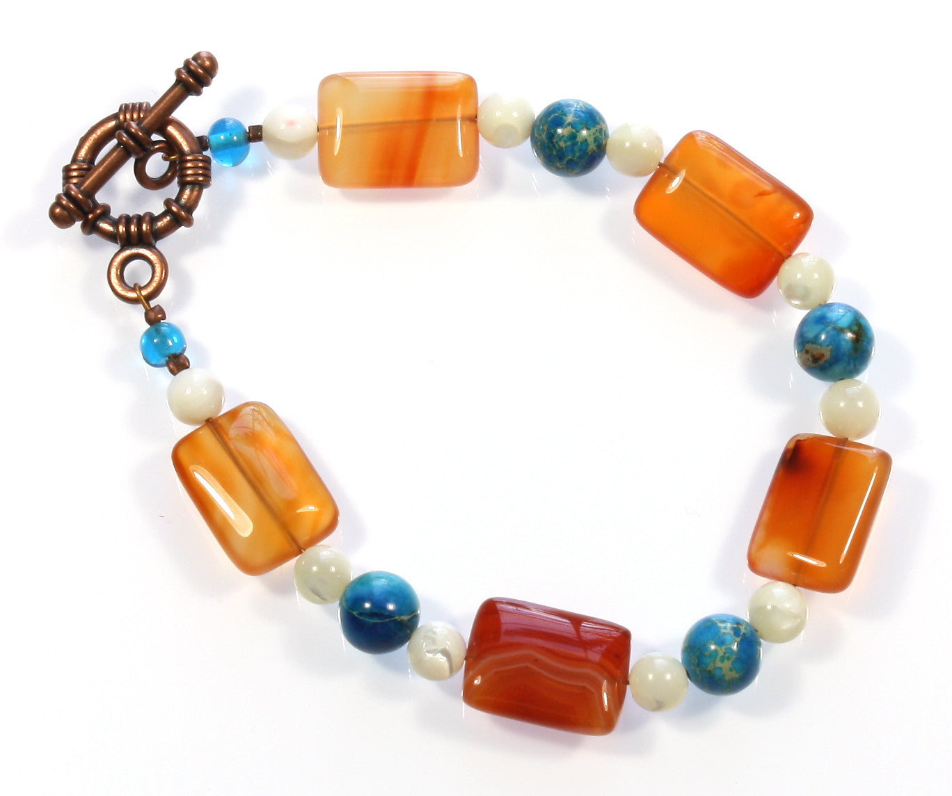 "Carnelian Bracelet ""Carved in Carnelian"" Style-ARThouse"