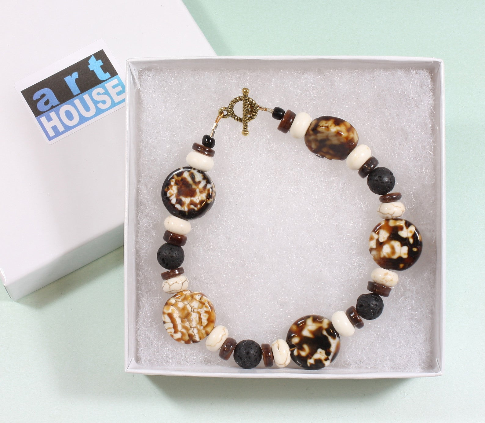 "Coffee Agate Bracelet ""Cuppa Coffee"" Style-ARThouse"