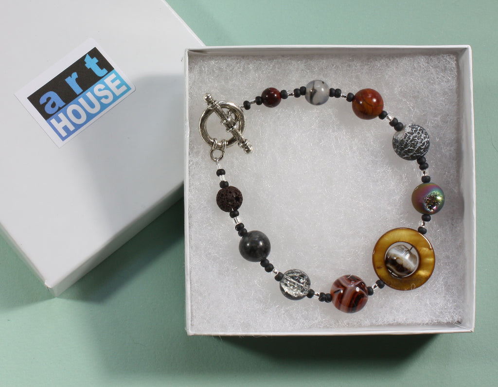 "Exoplanet Natural Stone Bracelet ""Dark Worlds"" Style-ARThouse"