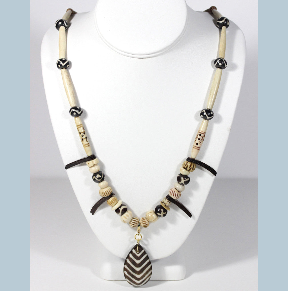 "African Tribal Necklace ""Dem Bones"" Style-ARThouse"