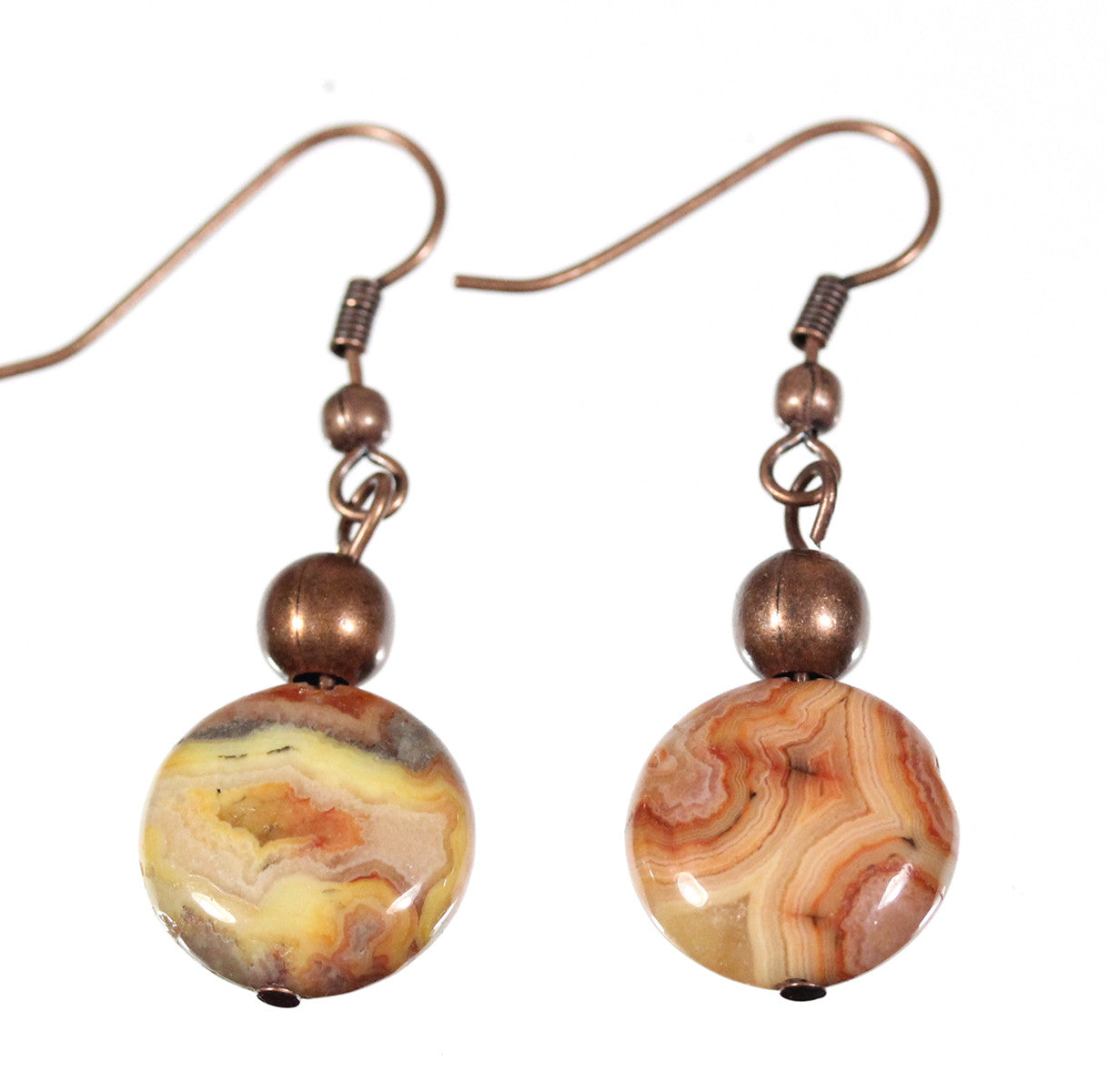 "Crazy Lace Agate Earrings ""Desert Landscape"" Style-ARThouse"